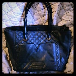 Steve Madden quilted black tote